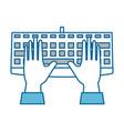 keyboard hardware computer vector image