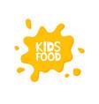 kids food letters in juice splash vector image