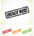 locally made stamp vector image vector image