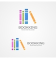 logo with a colored books vector image vector image