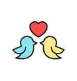 love bird couple icon for wedding concept design vector image