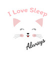 lovely cartoon cat vector image vector image