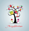 Merry christmas card with santaclaus and gift on vector image vector image