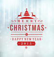 Merry Christmas message and light background with vector image
