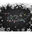 merry christmas text created of power cable with vector image