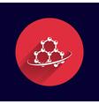 Molecule icon atom chemistry symbol element vector image