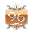 Ninety six years anniversary celebration silver vector image vector image