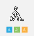 of cleanup symbol on job vector image vector image