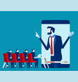 office people online meeting concept business vector image vector image