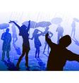 People Enjoying the Rain vector image