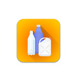 plastic recycle waste icon vector image