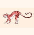 playful cat in pose a hunter meow power vector image vector image