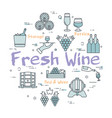 round concept of fresh wine vector image vector image