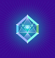 sacred geometry symbol vector image