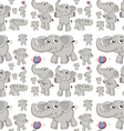 Seamless elephant vector image vector image