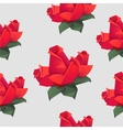 Seamless pattern with origami red roses vector image vector image