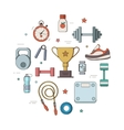 set for a fitness tool vector image