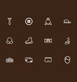 set of 12 editable shopping icons line style vector image