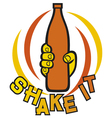 shake it symbol vector image