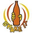shake it symbol vector image vector image