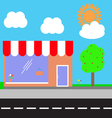 Shopping center vector image