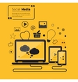 Social Networks Media Online Flat Style vector image