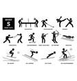 sport games alphabet s icons pictograph showdown vector image vector image