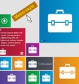 suitcase icon sign buttons Modern interface vector image vector image