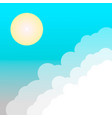 sun and cloud in sky vector image