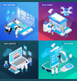 telemedicine isometric concept vector image vector image
