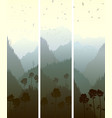vertical banners of mountains wood vector image vector image