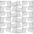 wavy lines repeatable pattern black and white vector image vector image