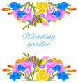 wedding flowers bouquets invitation card or shop vector image vector image