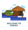 welcome to hawaii promo poster with nature and vector image vector image
