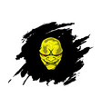 yellow head devil with abstract black background vector image vector image