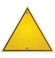 yellow traffic sign icon vector image vector image