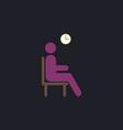 Waiting computer symbol vector image