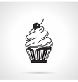 Cupcake black icon vector image