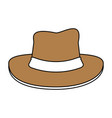 hat cartoon silhouette vector image