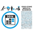 2016 Month Calendar Icon with 1000 Medical vector image vector image