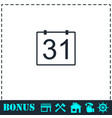 31 calendar days icon flat vector image