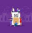 5g technology concept vector image