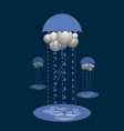 abstract clouds under an umbrella it rains vector image vector image