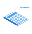 accounting calculator icon isometric template vector image vector image