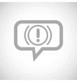 Alert grey message icon vector image vector image