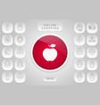 apple icon symbol vector image