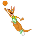 basketball kangaroo vector image