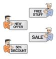 best deal mascot vector image