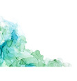 bluish shades corner ink background wet liquid vector image vector image