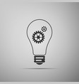 bulb with gears and cogs symbol idea concept vector image vector image